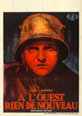 "Movie Posters:Academy Award Winners, All Quiet on the Western Front (Universal, 1930). Pre-War Belgian(24"" X 33.5"").. ..."