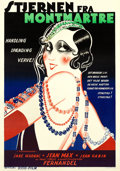 "Movie Posters:Drama, The Darling of Paris (Osso-Film, 1932). Danish Poster (25.25"" X36"").. ..."