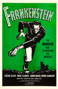 "Movie Posters:Horror, Frankenstein (Universal, R-1960s). One Sheet (27"" X 41"") GreenStyle.. ..."