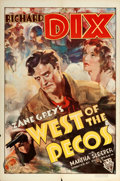 """Movie Posters:Western, West of the Pecos (RKO, 1935). One Sheet (27"""" X 41""""). Western.. ..."""