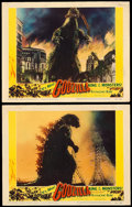 "Movie Posters:Science Fiction, Godzilla (Trans World, 1956). Lobby Cards (2) (11"" X 14"").. ...(Total: 2 Items)"