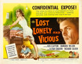 "Movie Posters:Exploitation, Lost, Lonely and Vicious & Other Lot (Howco, 1958). Half Sheets(2) (22"" X 28"").. ... (Total: 2 Items)"