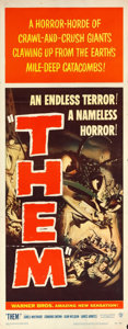 """Movie Posters:Science Fiction, Them! (Warner Brothers, 1954). Insert (14"""" X 36"""").. ..."""