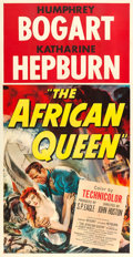 "Movie Posters:Adventure, The African Queen (United Artists, 1952). Three Sheet (41"" X 79"")....."