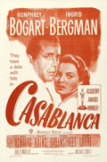 "Movie Posters:Academy Award Winners, Casablanca (Warner Brothers, R-1949). One Sheet (27"" X 41"").. ..."