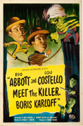 "Movie Posters:Comedy, Abbott and Costello Meet the Killer, Boris Karloff (UniversalInternational, 1949). One Sheet (27"" X 41"").. ..."