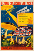 "Movie Posters:Science Fiction, Earth vs. the Flying Saucers (Columbia, 1956). Australian One Sheet(27"" X 40"").. ..."