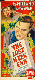 "Movie Posters:Academy Award Winners, The Lost Weekend (Paramount, 1945). Australian Post-War Daybill(13.5"" X 30"").. ..."