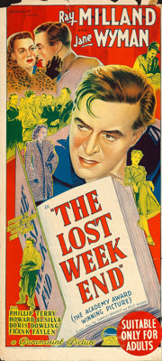 "The Lost Weekend (Paramount, 1945). Australian Post-War Daybill (13.5"" X 30"")"