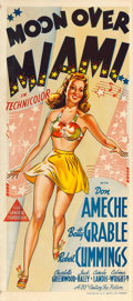 "Movie Posters:Musical, Moon Over Miami (20th Century Fox, 1941). Australian Daybill (13"" X 30"").. ..."