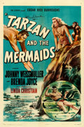 "Movie Posters:Adventure, Tarzan and the Mermaids (RKO, 1948). Johnny Weissmuller AutographedOne Sheet (27"" X 41"").. ..."