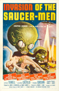 """Movie Posters:Science Fiction, Invasion of the Saucer-Men (American International, 1957). One Sheet (27"""" X 41"""").. ..."""