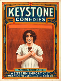"Mabel Normand (Keystone - Wesfilm House, c. 1910s). Stock British One Sheet (30"" X 40"")"