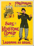 "Movie Posters:Comedy, Ford Sterling (Keystone, c. early 1910s). Stock British One Sheet(30"" X 40"").. ..."