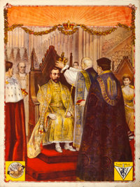 "The Coronation of King George V (The Warwick Trading Co., 1911). British One Sheet (27"" X 40""). Documentary..."