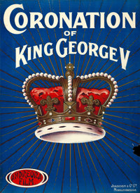 """The Coronation of King George V (Andreora Film, 1911). British One Sheet (29"""" X 39.5"""")"""