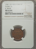 Civil War Merchants, (1861-1865) C. Bahr, New York, NY, MS63 Brown NGC, Fuld-NY630C-7a,R.5; 1863 M.S. Brown, New York, NY, MS63 Brown NGC, Fuld-NY...(Total: 9 tokens)