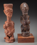 Tribal Art, SONGYE, Democratic Republic of Congo. Two Statues... (Total: 2Items)