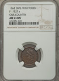 Civil War Patriotics, 1863 Our Country AU53 NGC, Fuld-1/229a, R.1; 1863 Our Country MS61Brown NGC, Fuld-1/229a, R.1; 1863 Army & Navy XF40 NGC, Ful...(Total: 13 tokens)
