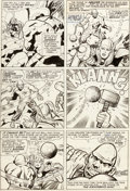 Original Comic Art:Panel Pages, Jack Kirby and Chic Stone Journey Into Mystery #114 Story Page 8 Original Art (Marvel, 1965)....