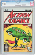 Modern Age (1980-Present):Superhero, Action Comics (1988 reprint) #1 (DC, 1988) CGC NM/MT 9.8 Whitepages....