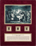Political:Presidential Relics, Abraham Lincoln Assassination: Deathbed Relic and Hair Samples....