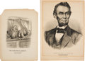 Political:Memorial (1800-present), Abraham Lincoln: Two Assassination-related Prints.... (Total: 2 Items)