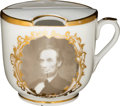 Political:3D & Other Display (pre-1896), Abraham Lincoln: Marshall Engraving Porcelain Moustache Cup....