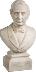 Political:3D & Other Display (pre-1896), Abraham Lincoln: Parian Ware Campaign Statue....