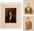 Photography:Cabinet Photos, [Abraham Lincoln]: Photographs of Three Conspirators.... (Total: 3Items)