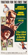 "Movie Posters:Western, The Man Who Shot Liberty Valance (Paramount, 1962). Three Sheet(41"" X 79""). Western.. ..."