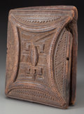 Tribal Art, NUPE, Northern Nigeria. Mirror Case... (Total: 2 Items)