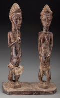 Tribal Art, BAULE, Ivory Coast. Pair of Standing Figures ... (Total: 2 Items)