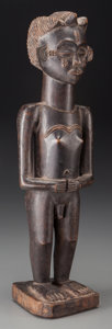 Tribal Art, CHOKWE, Democratic Republic of Congo, Angola. Standing Figure...