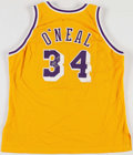 Basketball Collectibles:Uniforms, Shaquille O'Neal Signed Los Angeles Lakers Jersey....