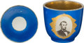 Political:3D & Other Display (pre-1896), Abraham Lincoln: Photographic Porcelain Cup & Saucer.... (Total: 2 Items)