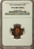 British Honduras, British Honduras: British Colony. Elizabeth II Proof Cent 1959 PR62 Red and Brown Cameo NGC,...