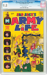 Sad Sack's Army Life Parade #23 File Copy (Harvey, 1969) CGC NM/MT 9.8 Off-white to white pages