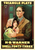 "Movie Posters:Drama, Shell Forty-Three (Triangle, 1916). One Sheet (28"" X 41"").. ..."