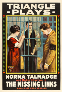 "The Missing Links (Triangle, 1916). One Sheet (28"" X 41"")"