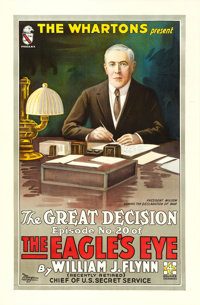 "The Eagle's Eye (Foursquare Pictures, 1918). One Sheet (28"" X 42.5"") Episode No. 20 - ""The Great Deceptio..."