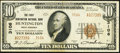 National Bank Notes:West Virginia, Huntington, WV - $10 1929 Ty. 2 The First Huntington NB Ch. # 3106....
