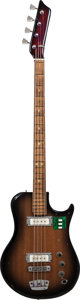 Musical Instruments:Bass Guitars, 510L Ural 510L Sunburst Electric Bass Guitar, Serial # 64884....
