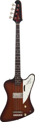 1964 Gibson Thunderbird II Sunburst Electric Bass Guitar, Serial # 159750, Weight: 8.2 lbs
