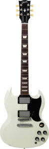 Musical Instruments:Electric Guitars, 2013 Gibson SG Standard White Solid Body Electric Guitar, Serial #121731485, Weight: 6.8 lbs....