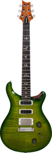 Musical Instruments:Electric Guitars, 2011 Paul Reed Smith (PRS) Greenburst Solid Body Electric Guitar,Serial # 11 177300, Weight: 7.8 lbs....