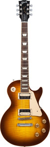 Musical Instruments:Electric Guitars, 2008 Gibson Les Paul Traditional Sunburst Solid Body ElectricGuitar, Serial # 021080465, Weight: 9.6 lbs....