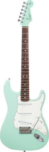 Musical Instruments:Electric Guitars, 2009 Fender Stratocaster Sea Foam Green Solid Body Electric Guitar,Serial # Z9398033, Weight: 7.8 lbs....
