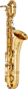 Musical Instruments:Horns & Wind Instruments, 1963 Selmer Mark VI Brass Baritone Saxophone, Serial # 110571....