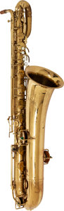 Musical Instruments:Horns & Wind Instruments, 1930's Buescher Aristocrat Brass Baritone Saxophone, Serial # 276292....